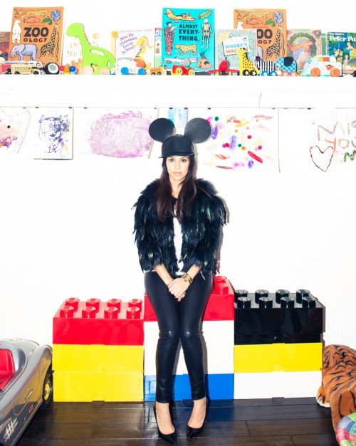 "Now let's look at Yeezus' sister-in-law Chloe Kardashian and her photoshoot for The Coveteur magazine. This seemingly innoncent article on her ""Louboutin-filled"" closet is actually more filled with MK imagery. Here she is posing weirdly with the now non-avoidable Mickey Mouse hat, the symbol of mind control in the entertainment industry."