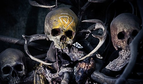 The Spiral on a skull in Carcosa.