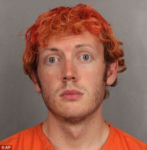 Holmes reportedly dyed his hair bright orange to resemble Heath Ledger's rendition of the Joker.