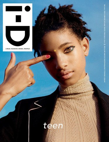 Willow Smith en la portada de Identificación.