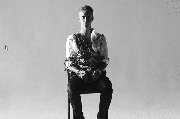 Speaking of abuse and deshumanization, Justin Bieber is the poster boy of the occult elite's favorite pastime. In this photoshoot for Complex magazine, he is chained up to a chair, the same way he is chained up to the music industry.