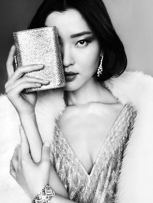 """Du Juan in Vogue China. She is touted as the """"first Chinese international supermodel""""."""