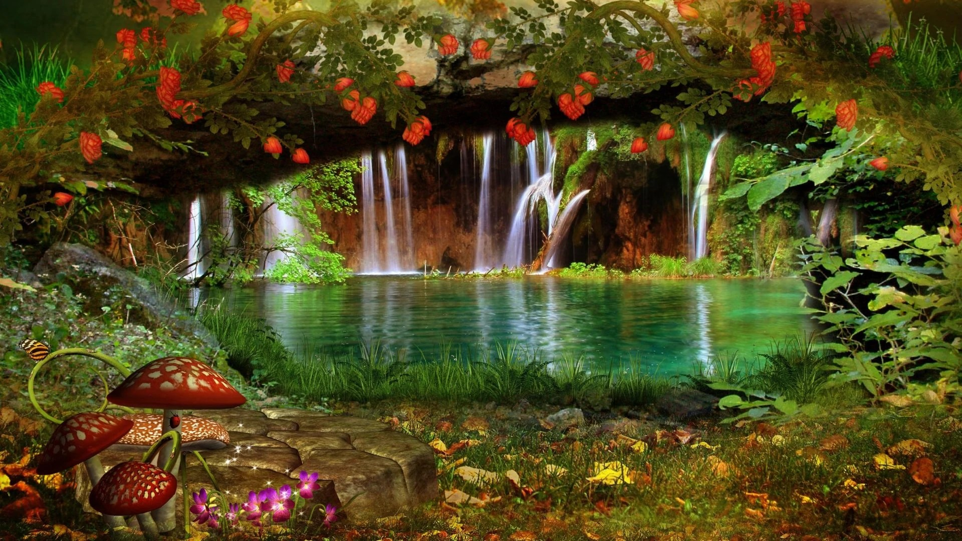 Full Screen Desktop Fall Leaves Wallpaper Image Forests Cool Colors Flowers Lakes Plants Beautiful