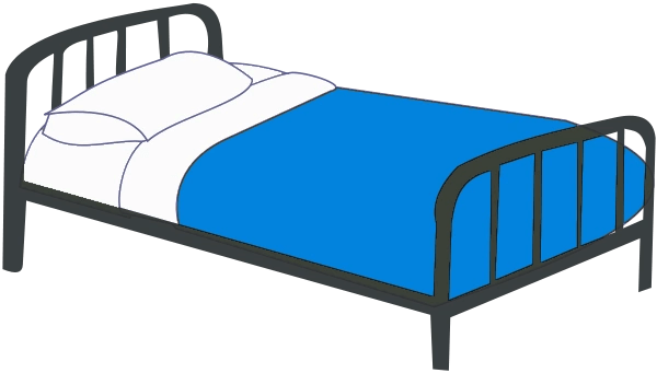 Image Bedroom Clipart Single Bed Blue Tpng Animal Jam