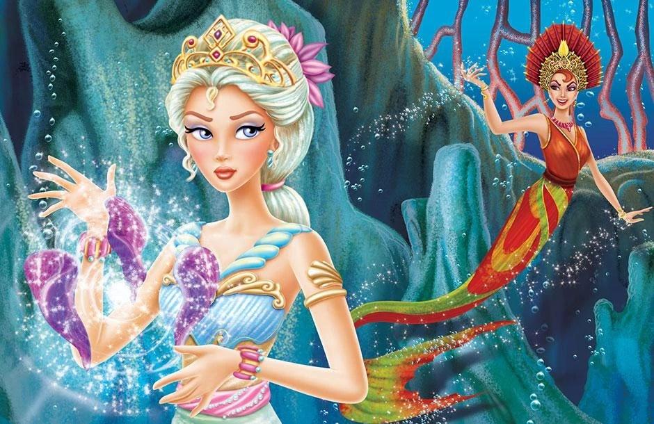 Image Book Illustration Of Mermaid Tale 8jpeg Barbie