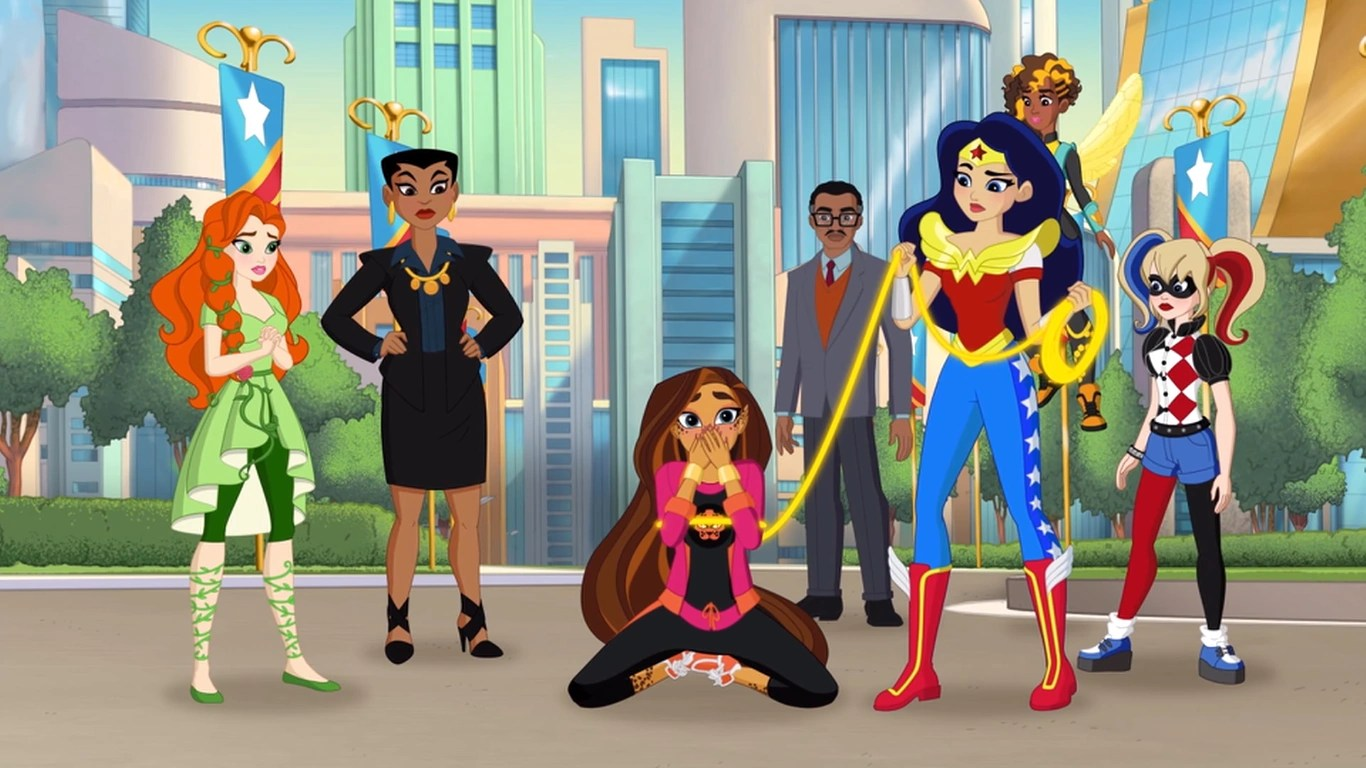 Harley Quinn Power Girl Wallpaper Hd Saving The Day Dc Super Hero Girls Wikia Fandom