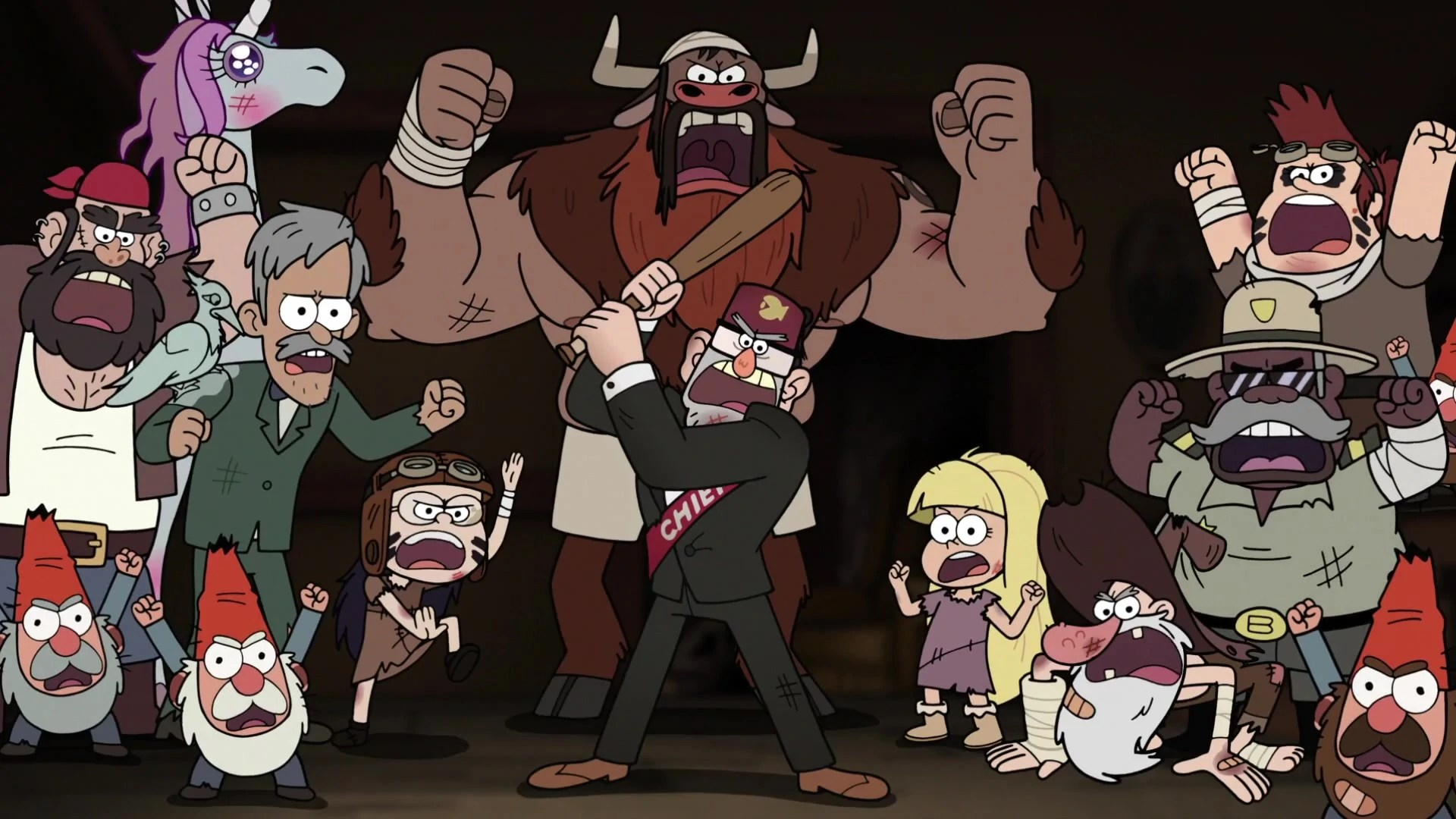 Night Vale Gravity Falls Wallpaper Image S2e19 Stan The Resistance Chef Jpg Gravity Falls