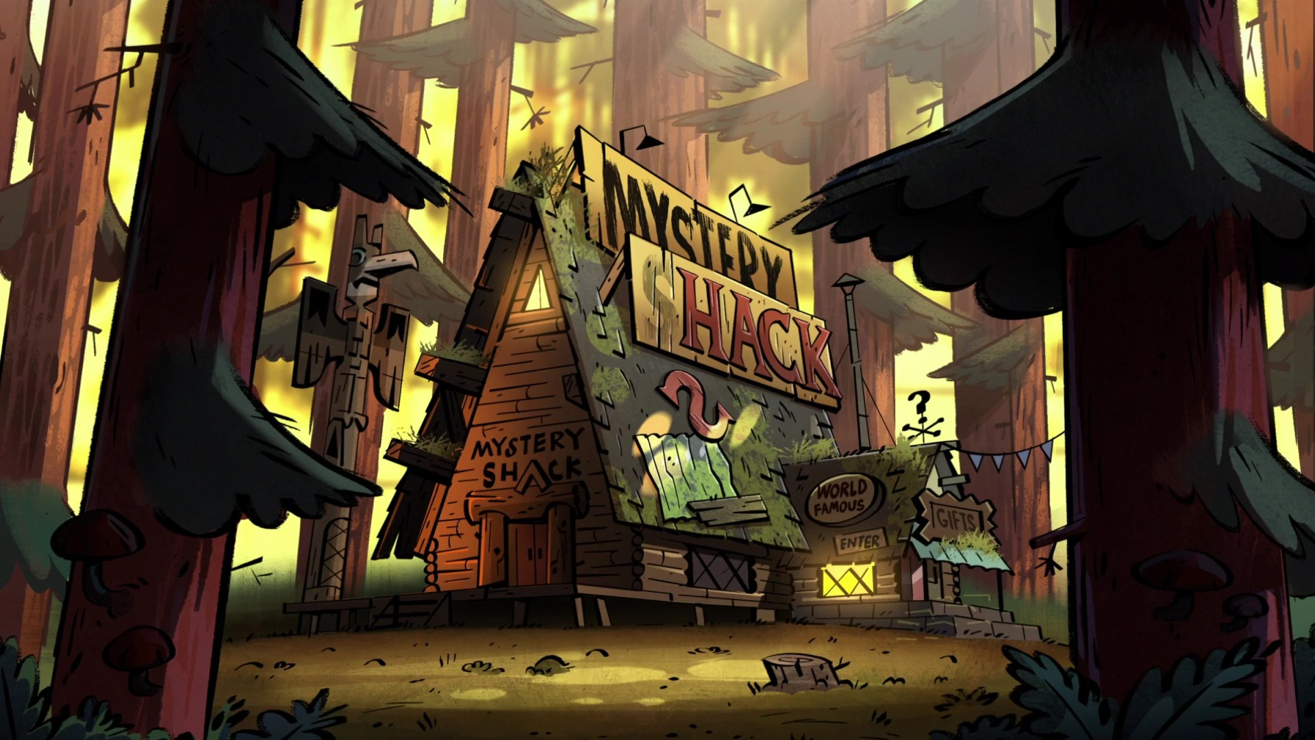 Gravity Fall Computer Wallpaper Image S2e1 Mystery Shack Day Png Gravity Falls Wiki