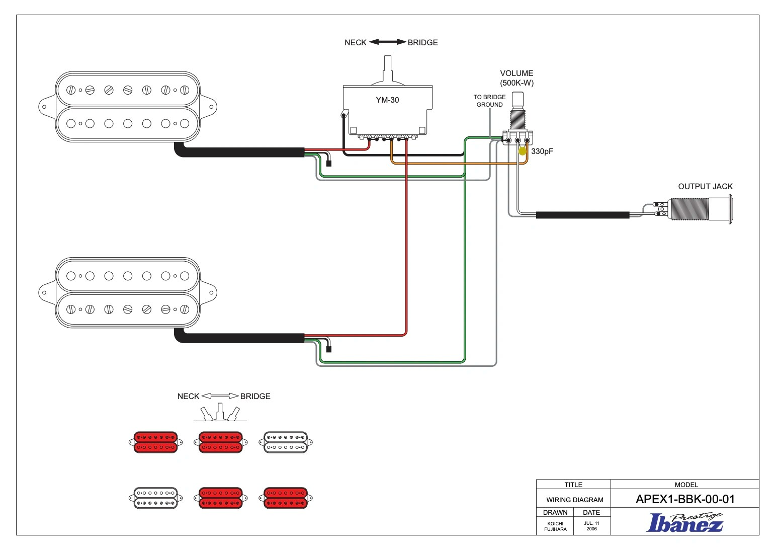 global guitar wiring diagram
