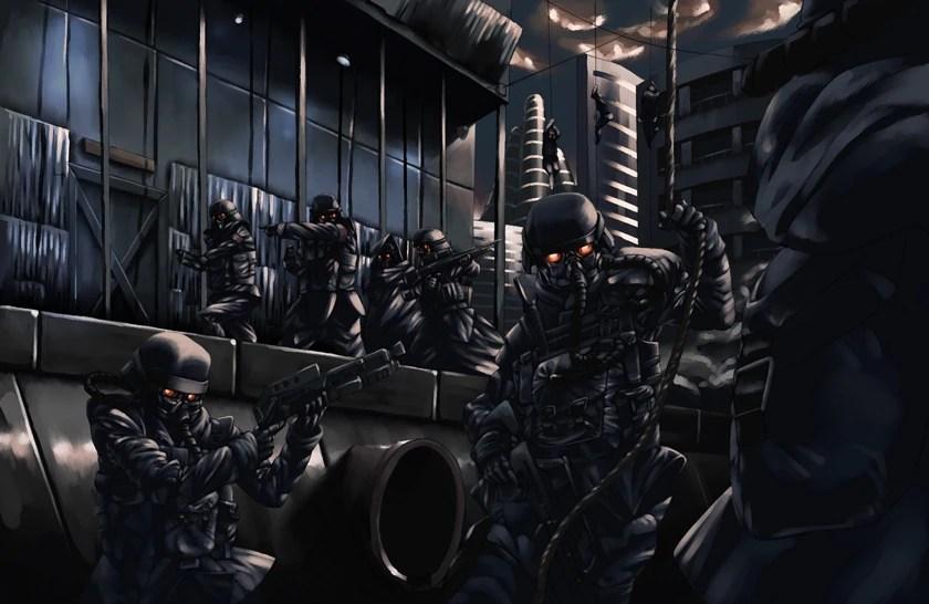 Killzone Shadow Fall Helghast Wallpaper Helghan Army Playstation All Stars Wiki Fandom Powered