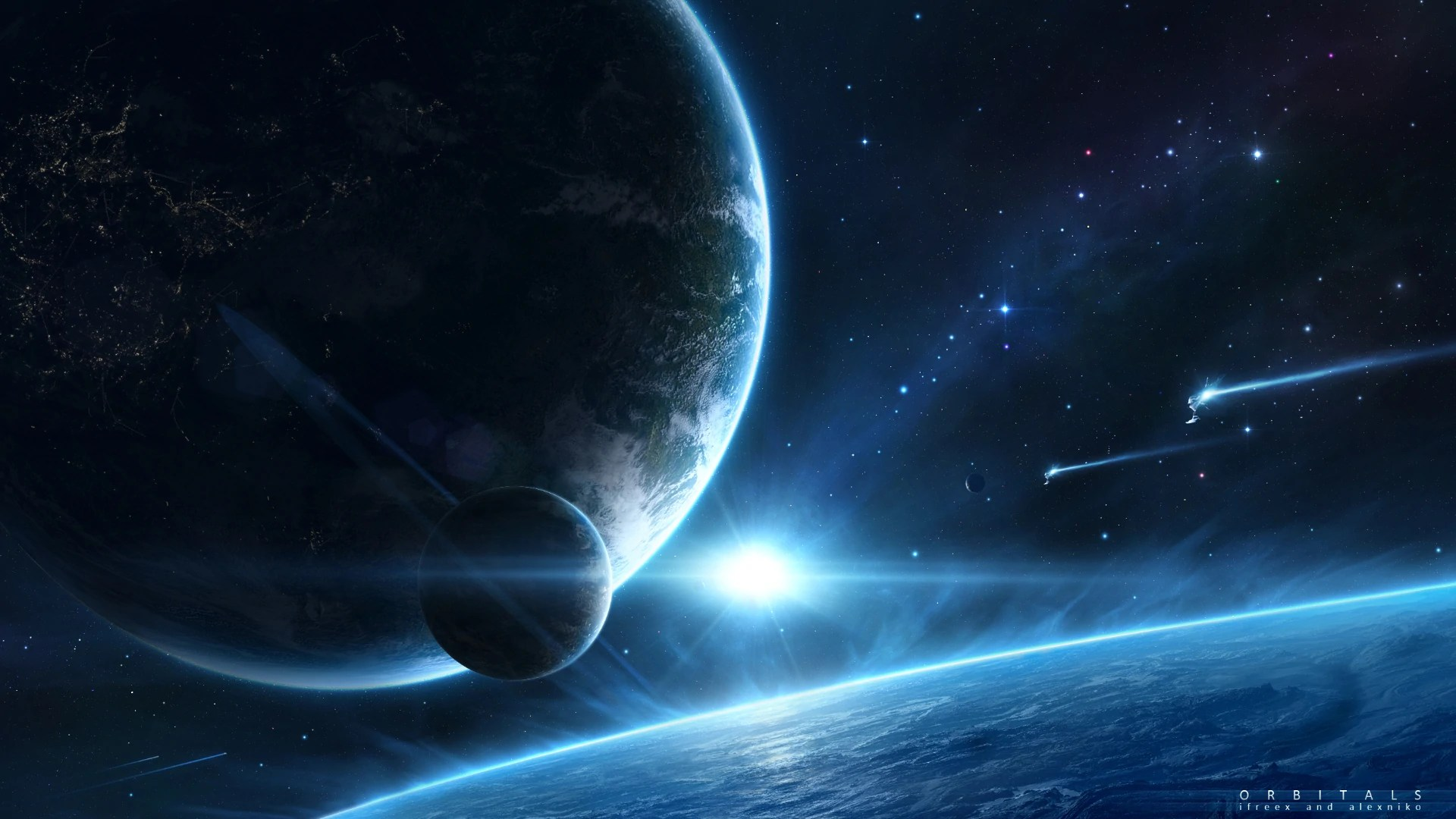 Image - Space Fantasy HD Wallpaper-34 jpg Orbitals 1920x1080.jpg | Sci Fi Mini Builders Wiki ...