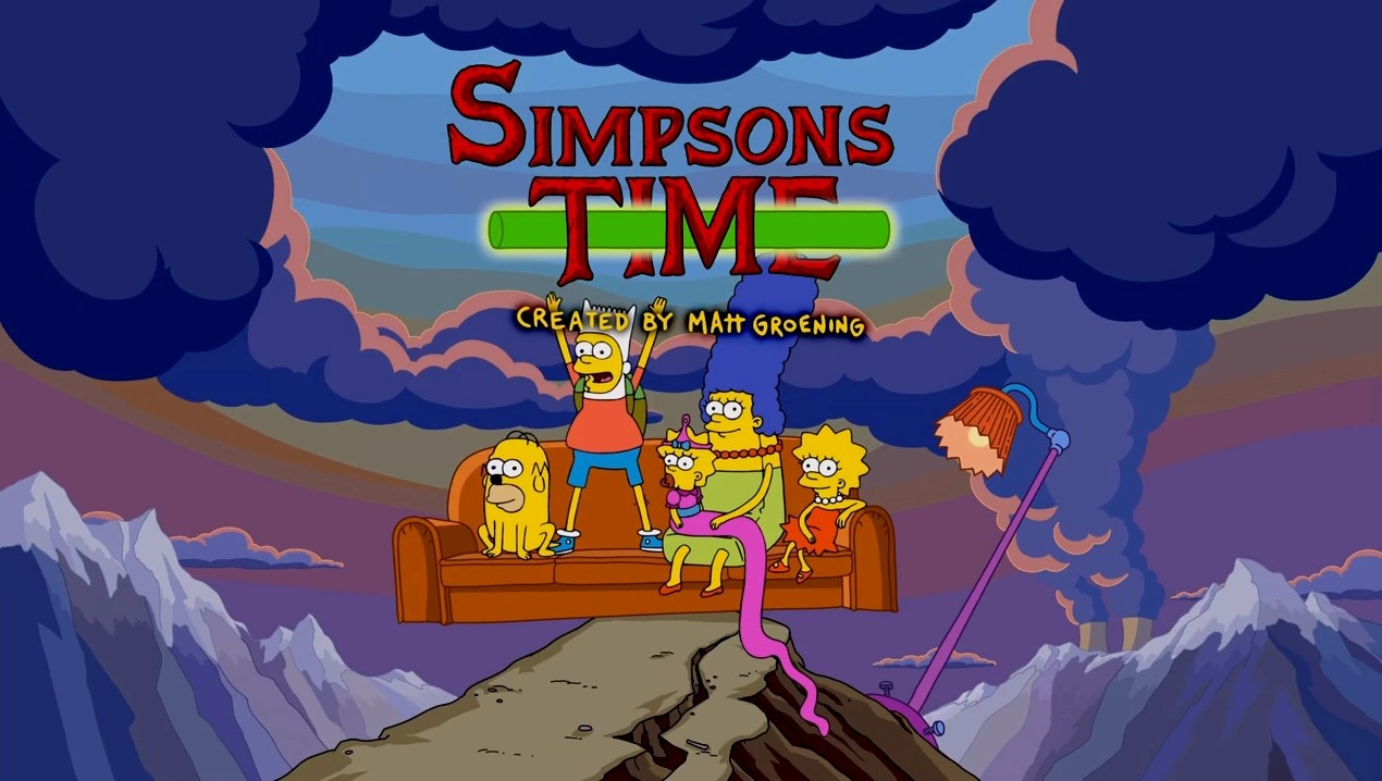 Big Bang Couch Gag Adventure Time Couch Gag Simpsons Wiki Fandom Powered By Wikia