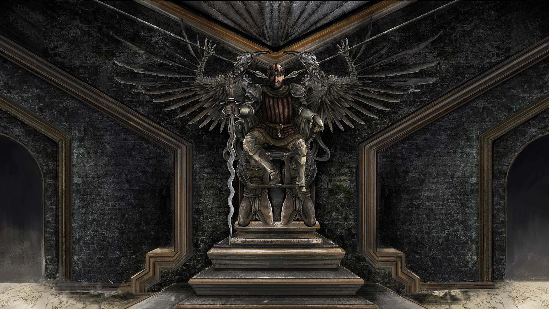 3d P Letter Wallpaper Reign Of Kings Throne Of The King Steam Trading Cards