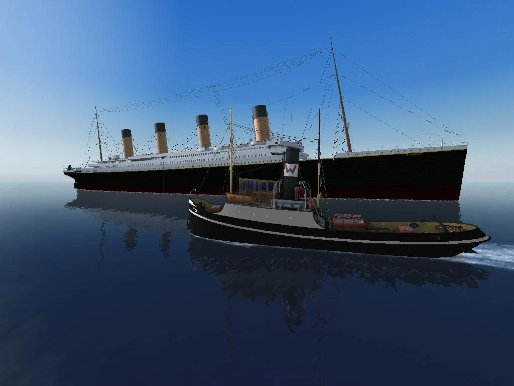 Image Ship Simulator Titanic With A Tugboatjpg