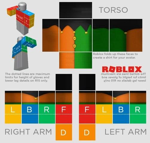 roblox shirt dimensions