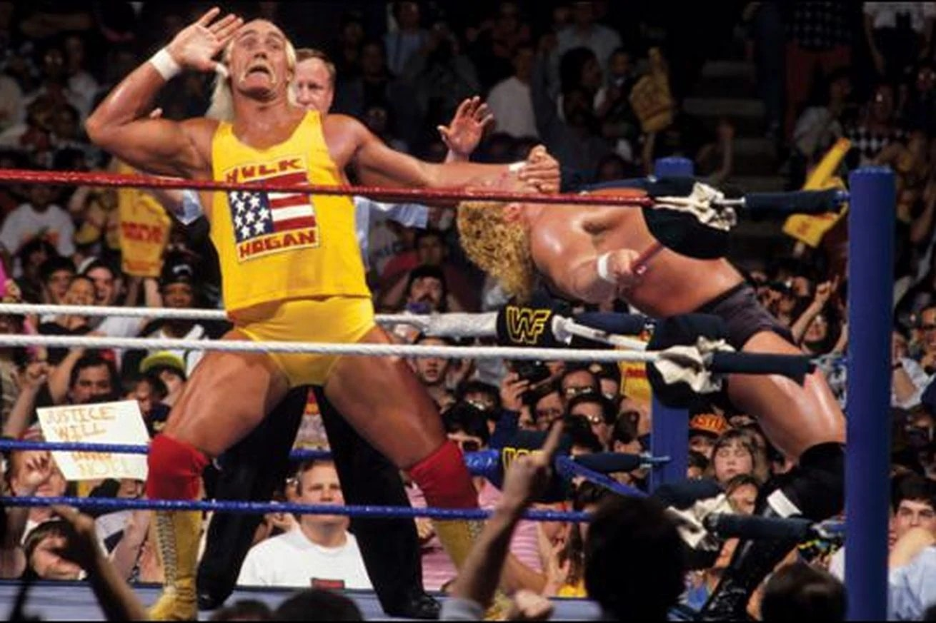 Hulk Hogan Wiki Image Hulk Hogan And Sid At Wrestlemania 8 Jpg
