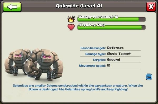 Golem Golemite Clash Of Clans Wiki