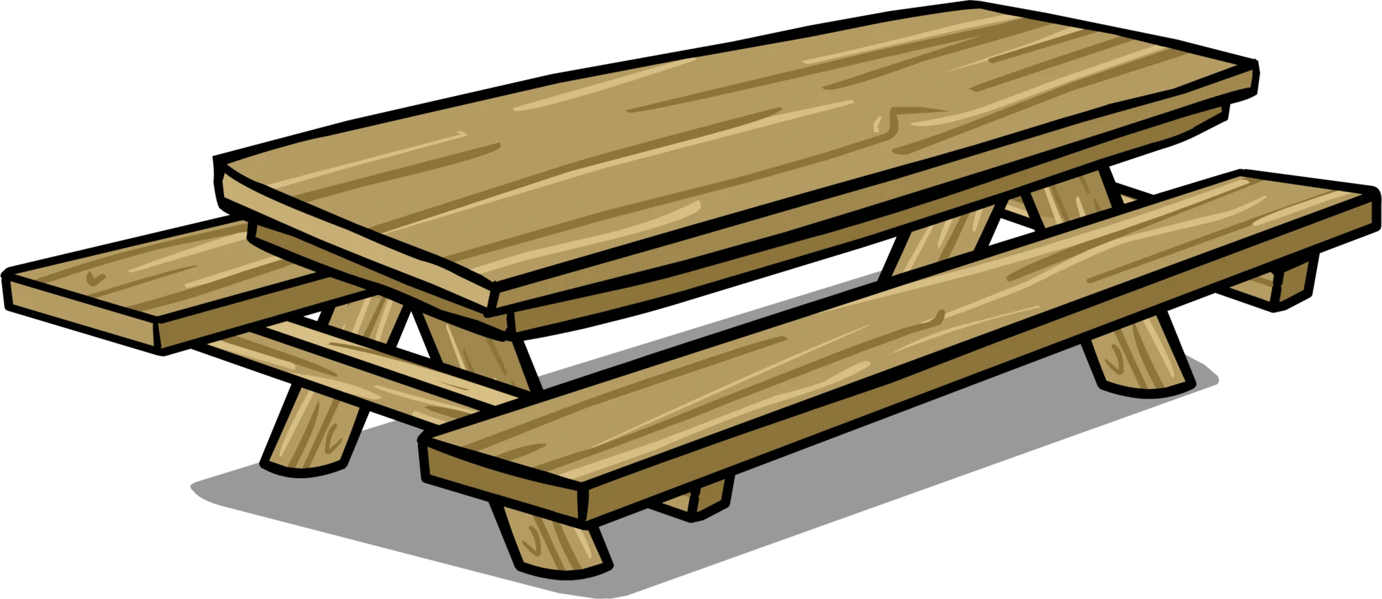 Gartenbank Clipart Image - Picnic Table Sprite 007.png | Club Penguin Wiki