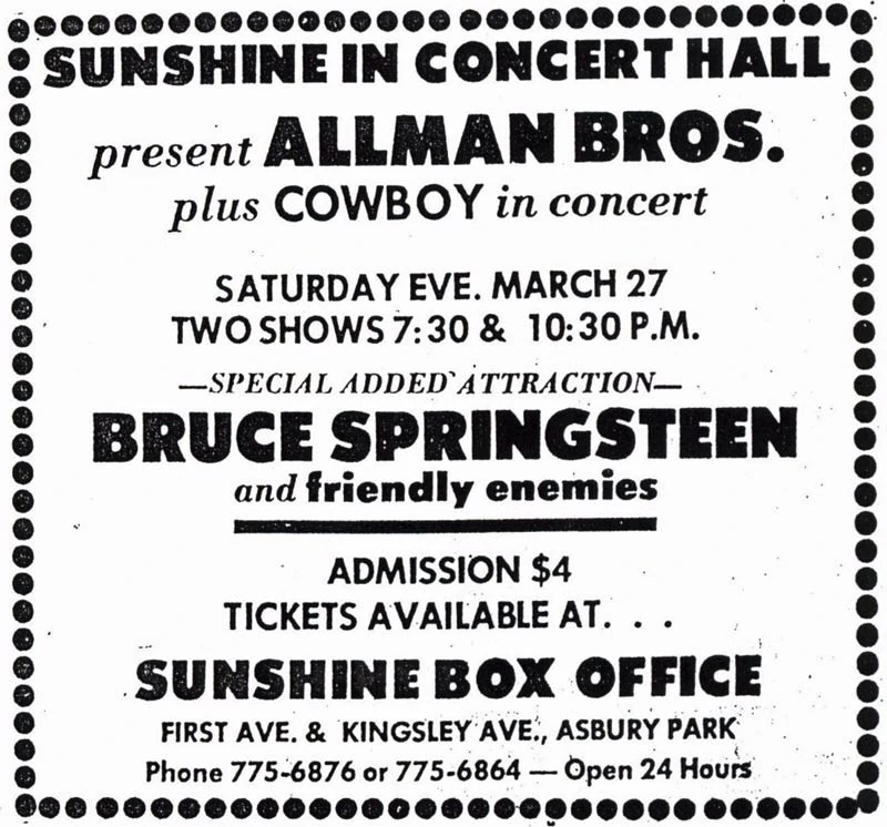 Poco Frechen March 27, 1971 Sunshine Inn, Asbury Park, Nj | Concerts