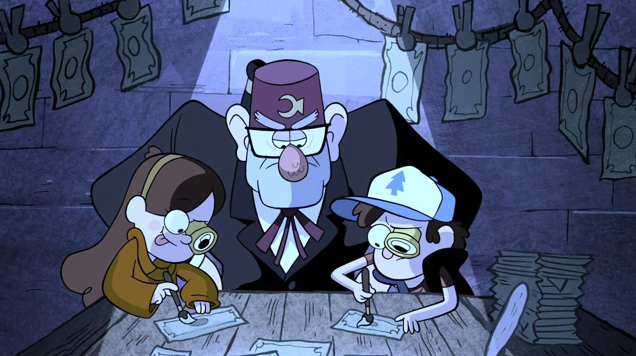 Gravity Falls Trust No One Wallpaper Image S1e2 Counterfeit Money Png Gravity Falls Wiki