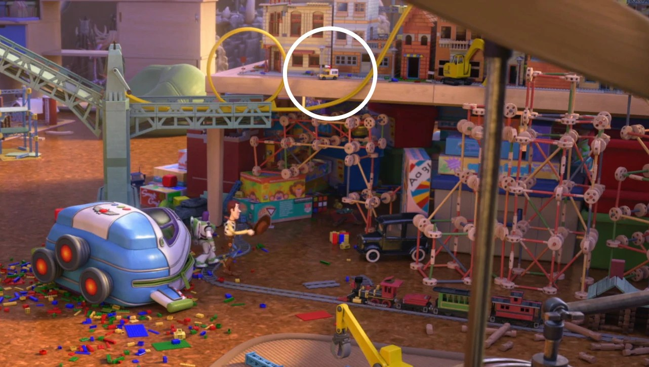 Pixar Cars Bedroom Wallpaper Image Toy Story That Time Forgot Pizza Planet Truck Jpg