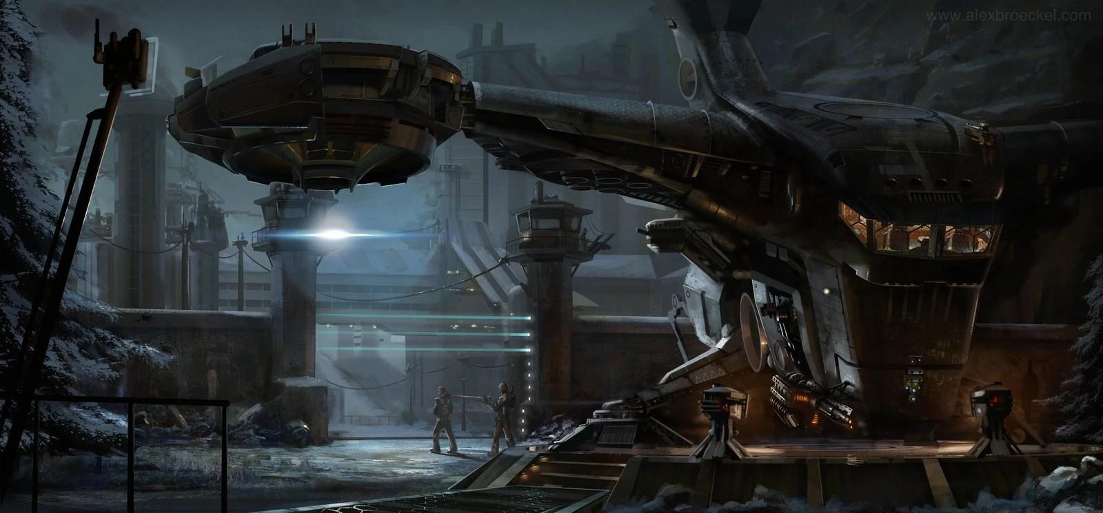 Black Lab Fall Wallpaper Enforcer Class Patrol Craft Star Wars Exodus Visual