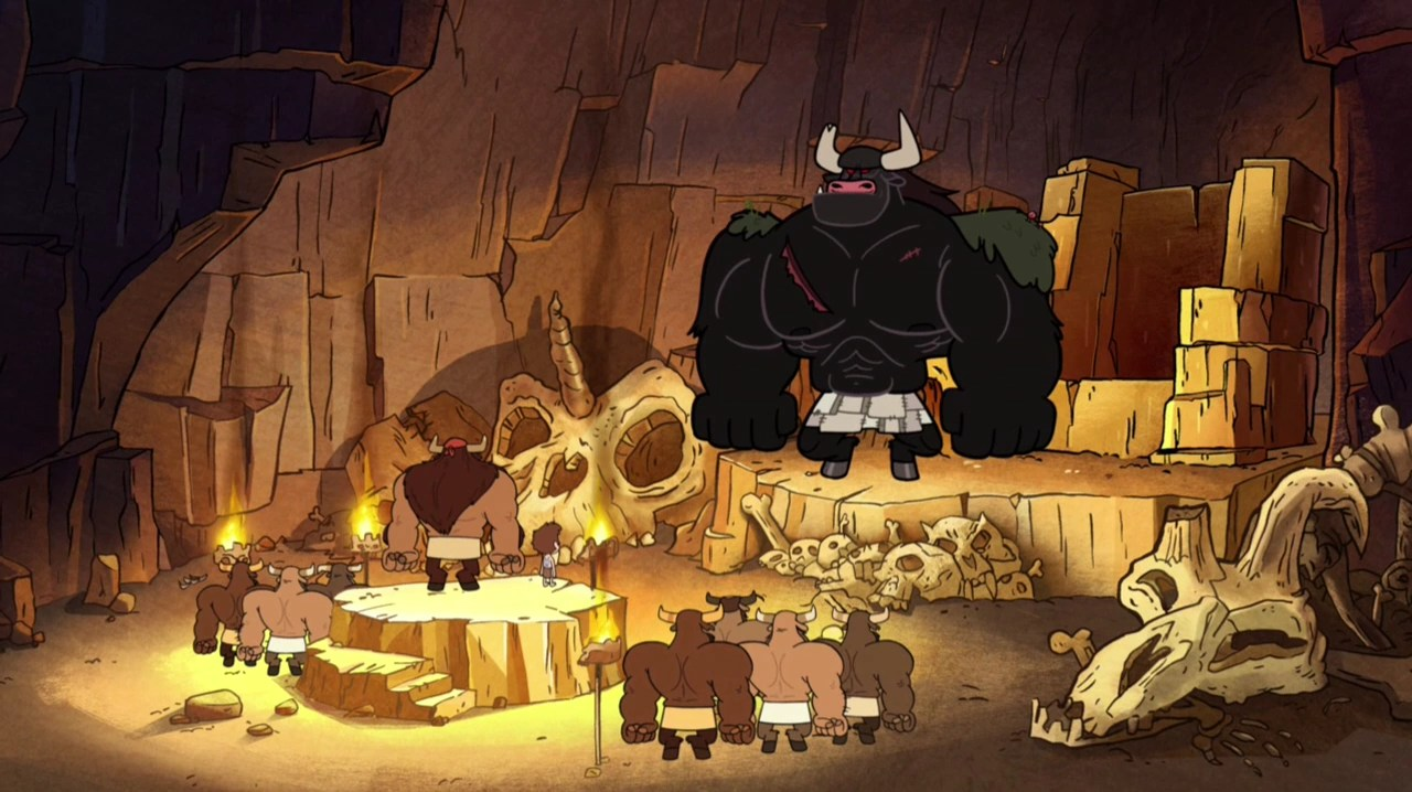 Girl With Spear Wallpaper Man Cave Gravity Falls Wiki Fandom Powered By Wikia