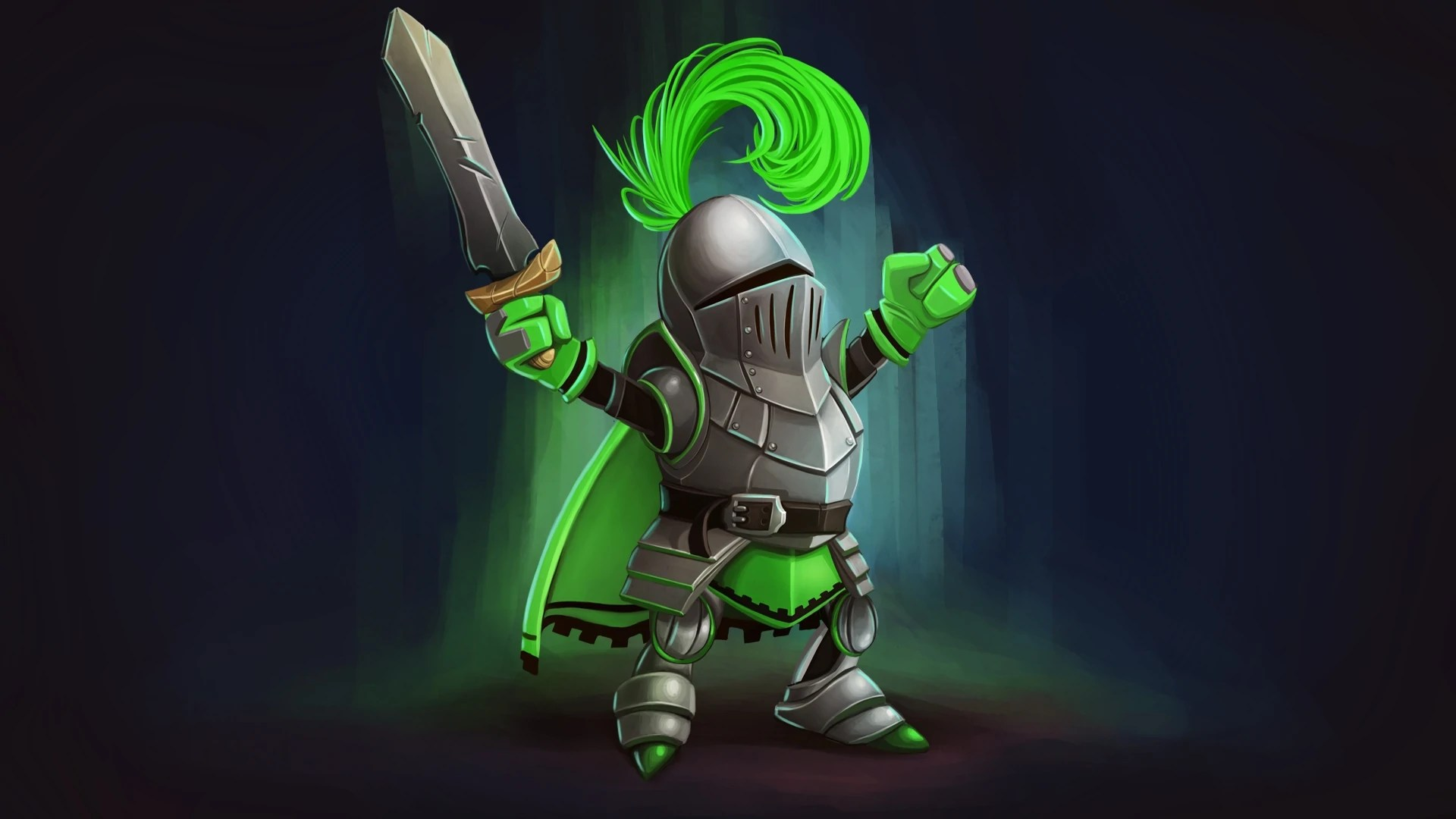 3d P Letter Wallpaper Knight Squad Green Knight Steam Trading Cards Wiki
