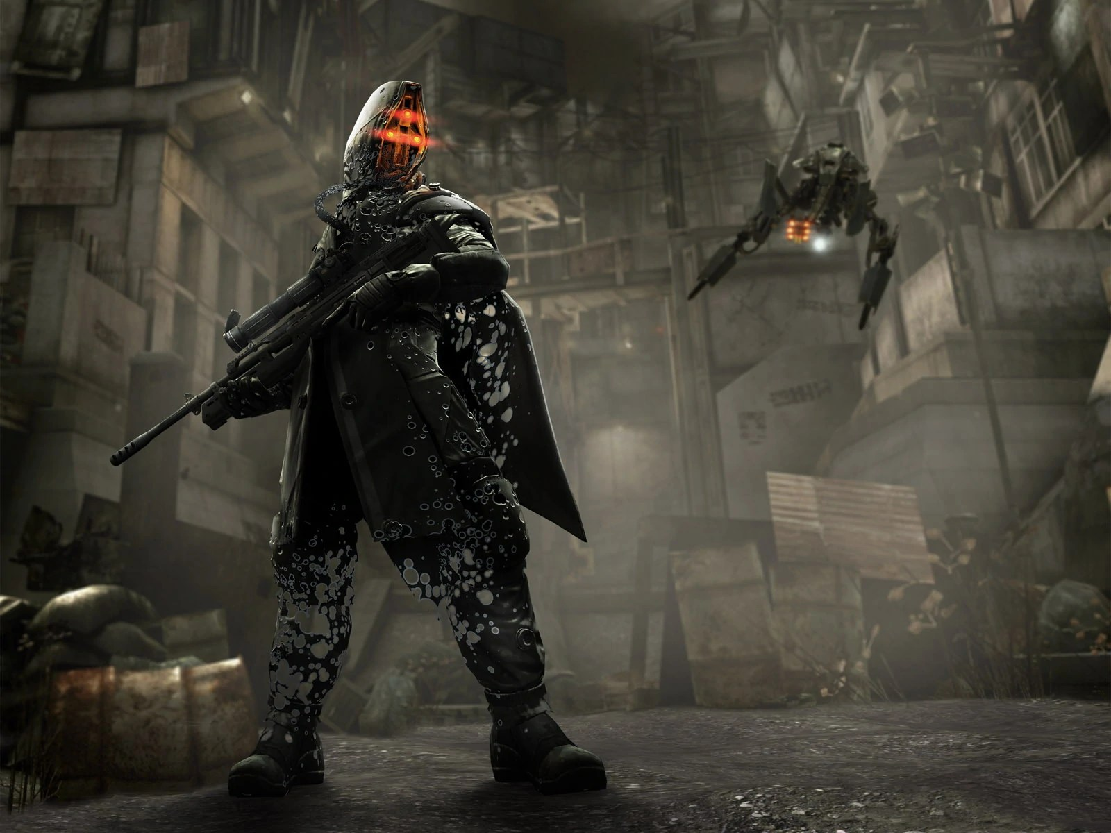Fall Masquerade Fantasy Art Wallpapers Image Picture Halo Reach Helghast Sniper High Definition