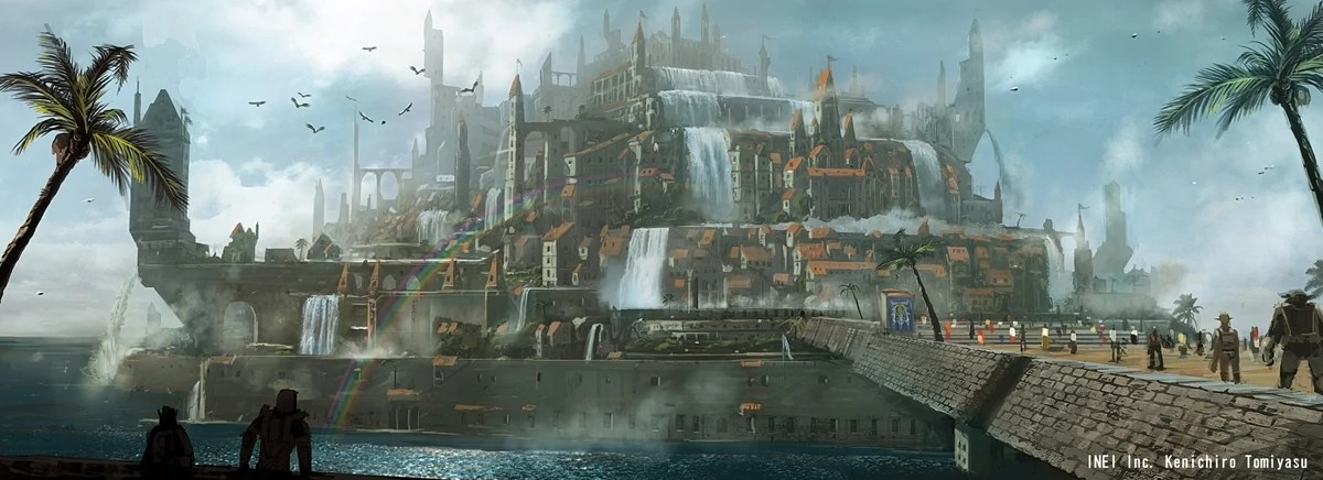 Mystical Creatures In The Fall Wallpaper Sacred City Of Adoulin Final Fantasy Wiki Fandom