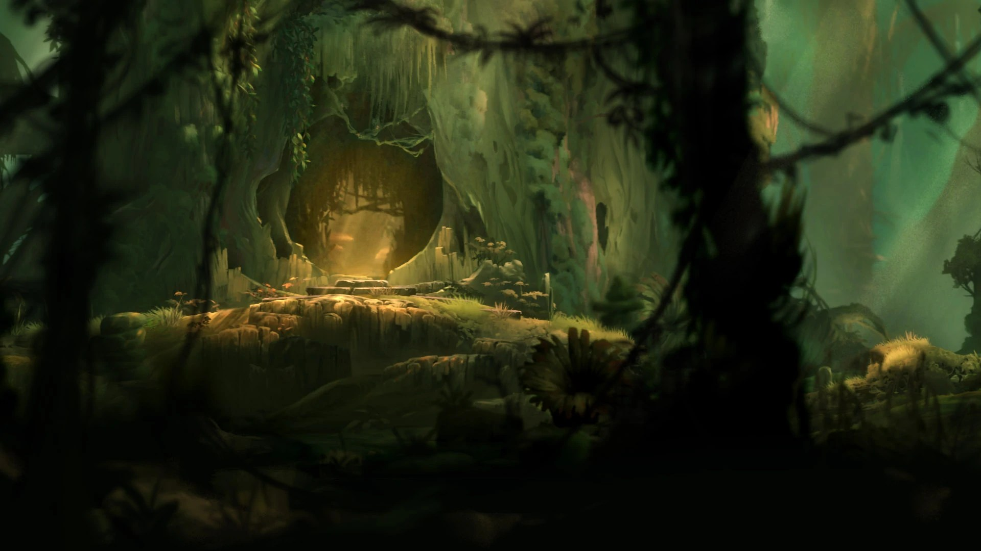 Fall Witch Wallpaper Ori And The Blind Forest Thornfelt Swamp Steam Trading