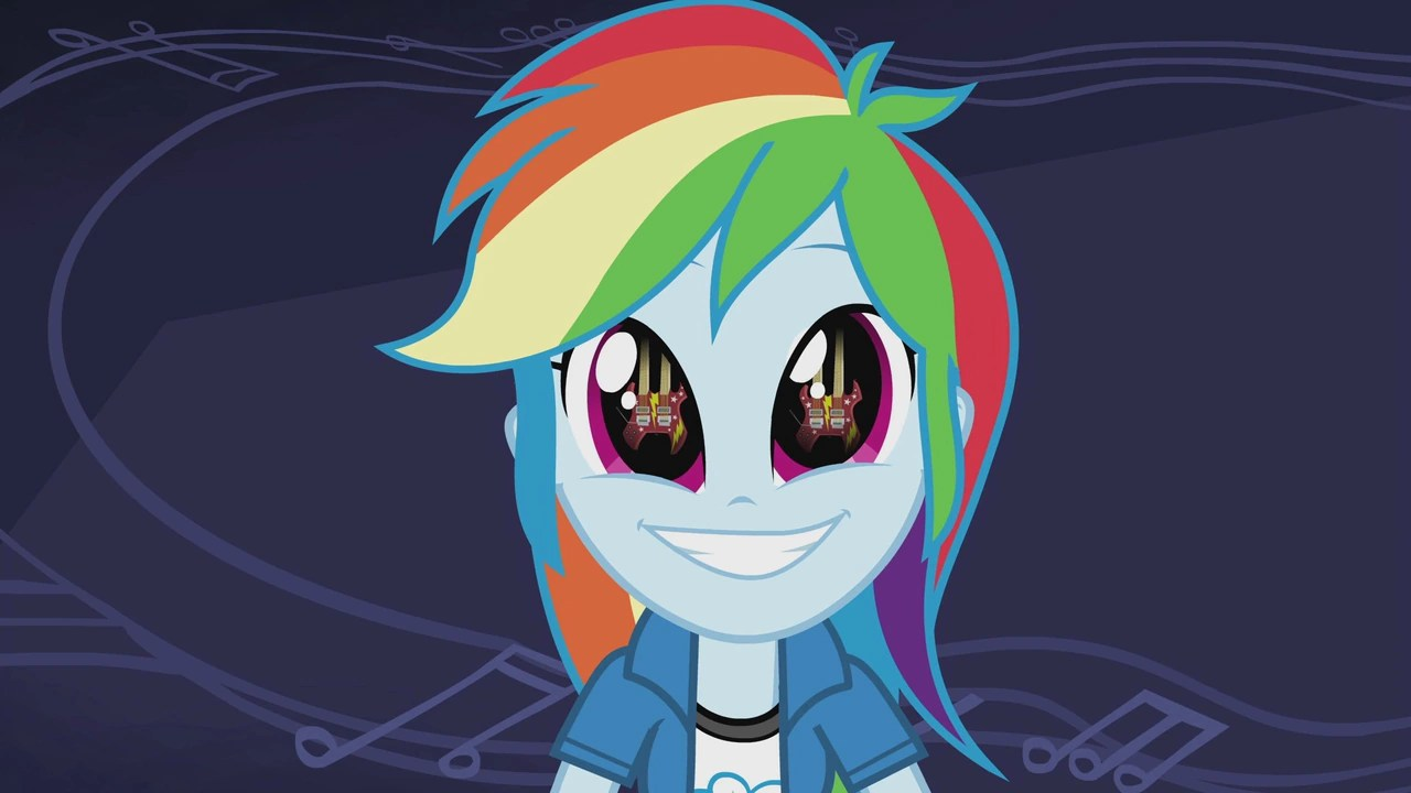 3d Magic Eye Moving Wallpapers Arquivo Guitar In Rainbow Dash S Eyes Eg2 Png My Little