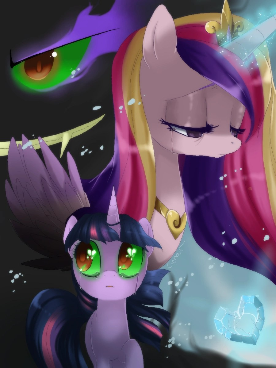 Fear Game Wallpaper Little Girl Image Twilight Sparkle And Princess Cadence Crying Of