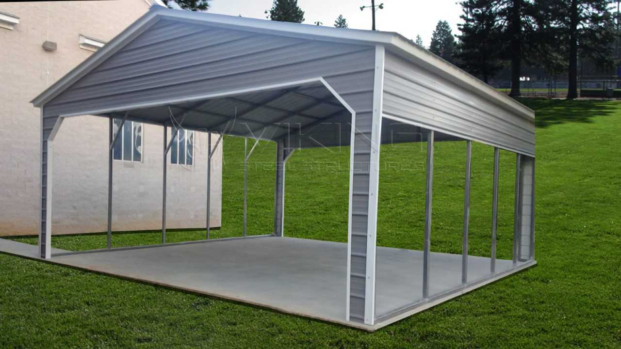 Dachkonstruktion Carport 24x25 Vertical Roof Metal Carport