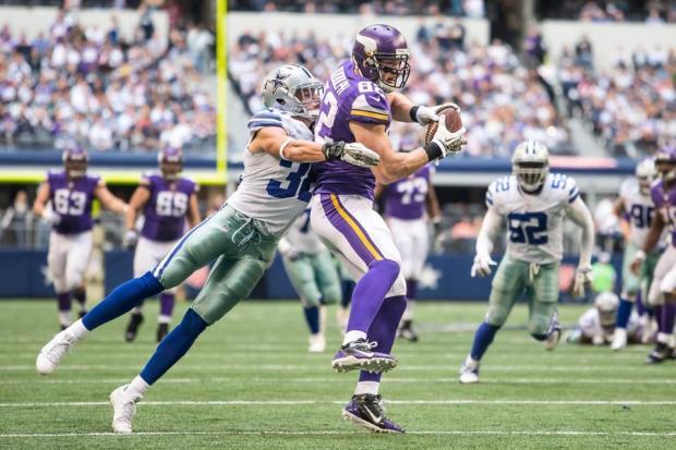 Kyle Rudolph at Cowboys 11/3/13