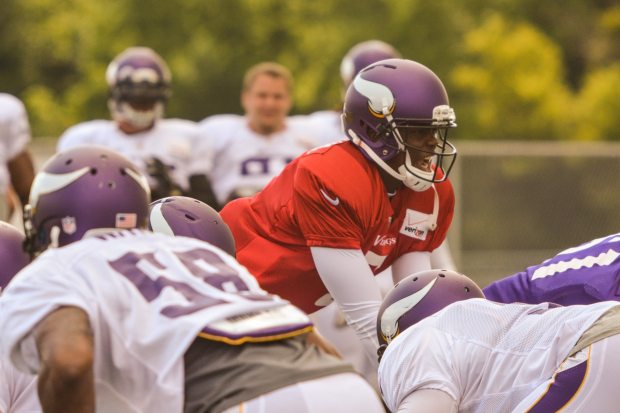 Teddy Bridgewater at QB Training Camp 2014