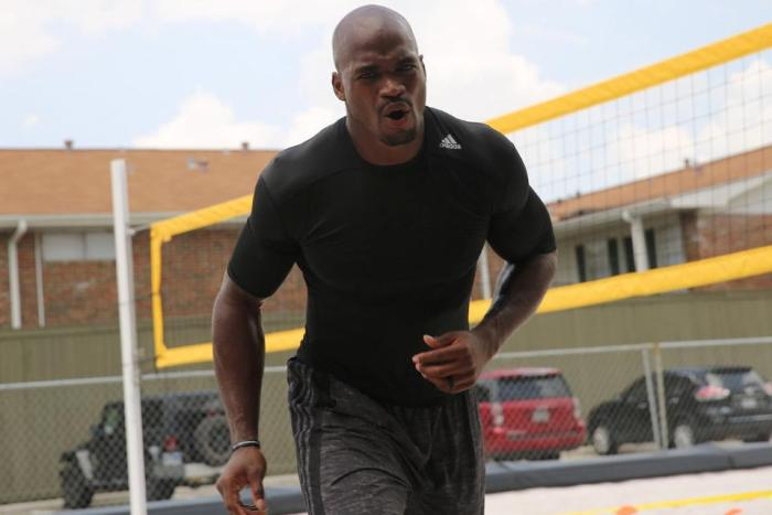 Adrian Peterson Working Out