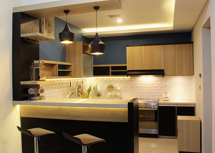 Dapur Sederhana Minimalis Kitchen Set 2 - Viku Furniture Bandung