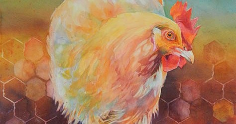 Image of watercolor art by Mary Burgess