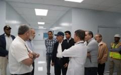 En visita sorpresa, el presidente Danilo Medina supervisa avances hospitales en el Cibao.
