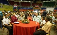 Margarita Cedeño presenta logros de familias Prosoli del Cibao