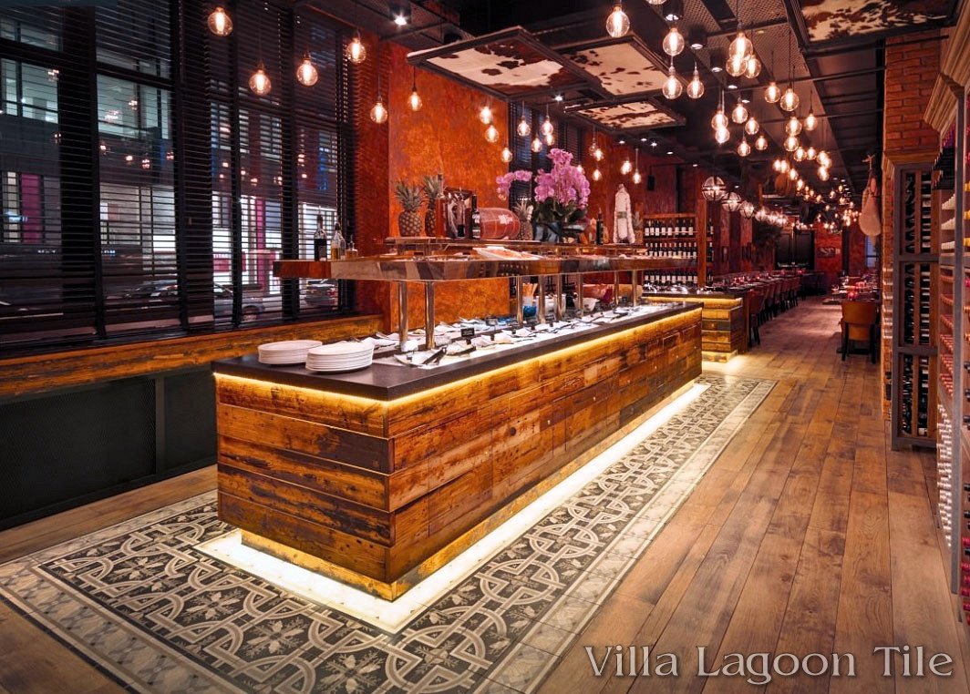 Tile To Hardwood Transition U.k. Restaurant Borders On Perfection - Cement Style