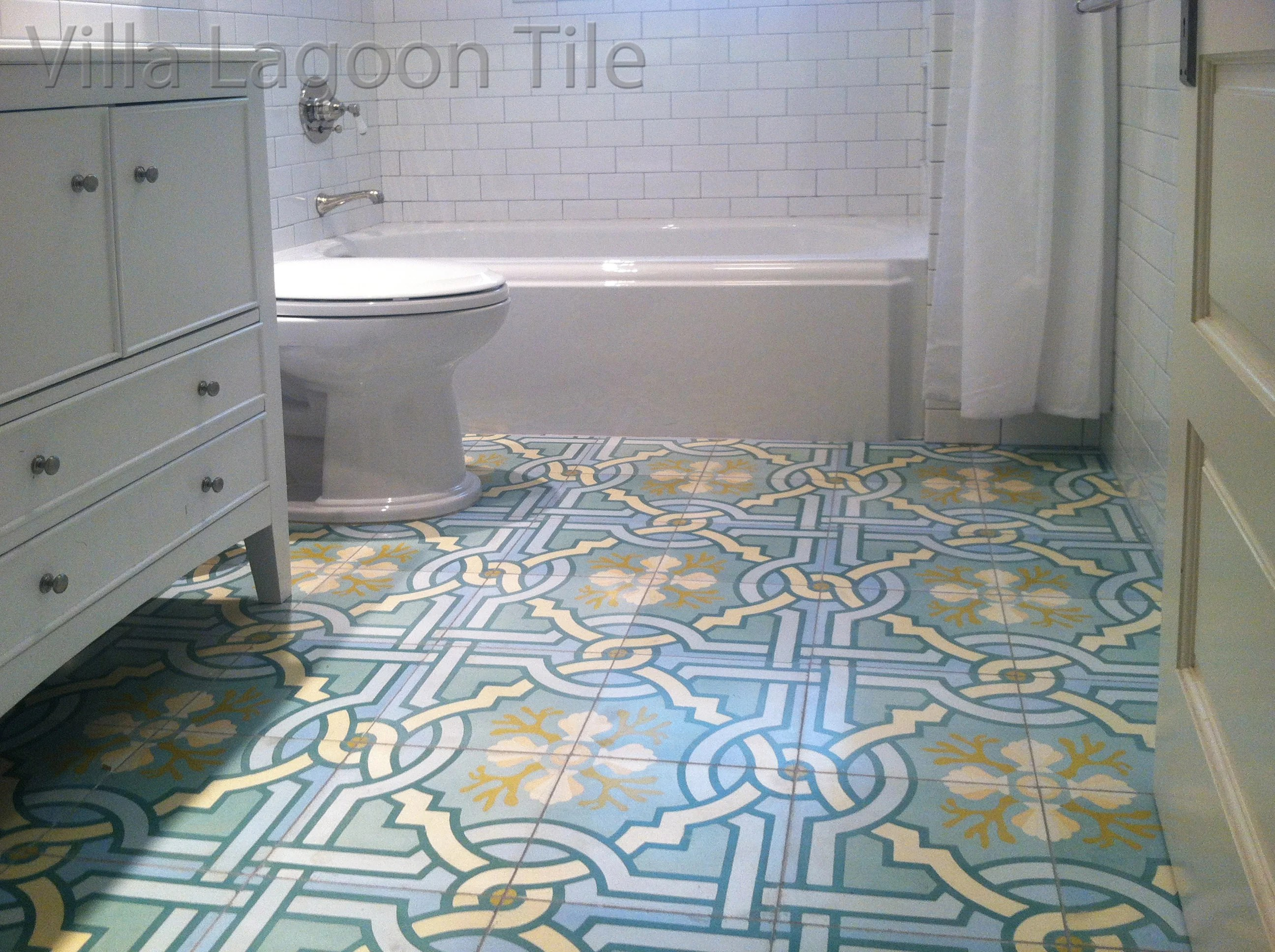 Zementfliesen Bad White Bathrooms With Beautiful Floors Cement Style