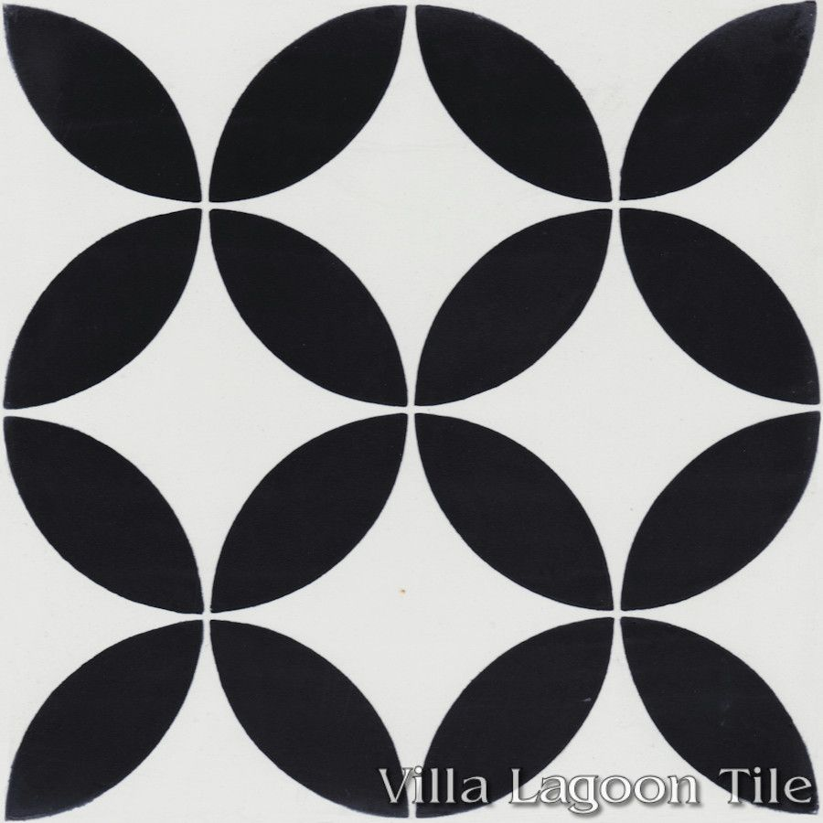 Quotcirculos B Black And Whitequot Cement Tile Villa Lagoon Tile