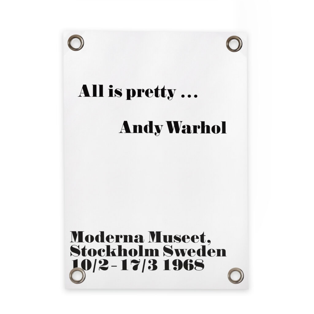 Poster Küche 50x70 Outdoor Poster All Is Pretty Andy Warhol 50 X 70 Cm
