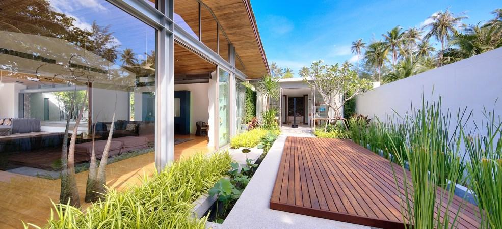 Tranquil spa garden