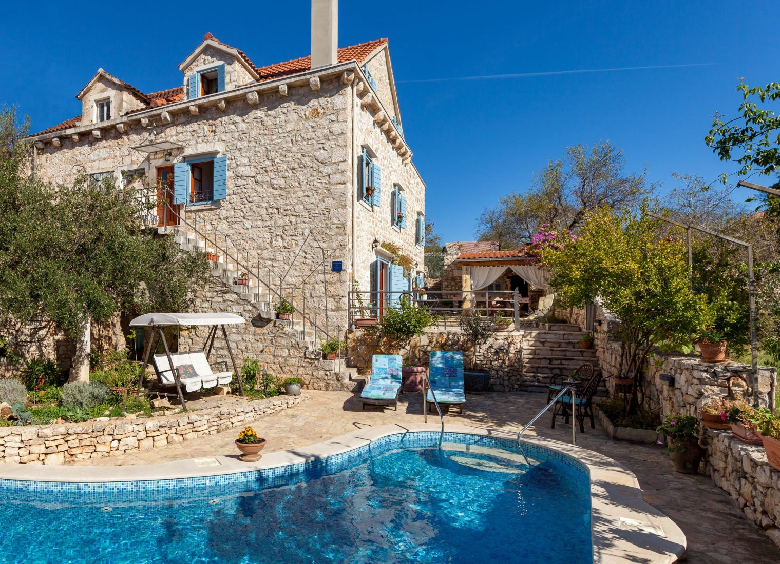 Ferienhaus Kroatien Mit Pool Brac Villa Vicina Rent By Owner Traditional Stone Villa In Croatia