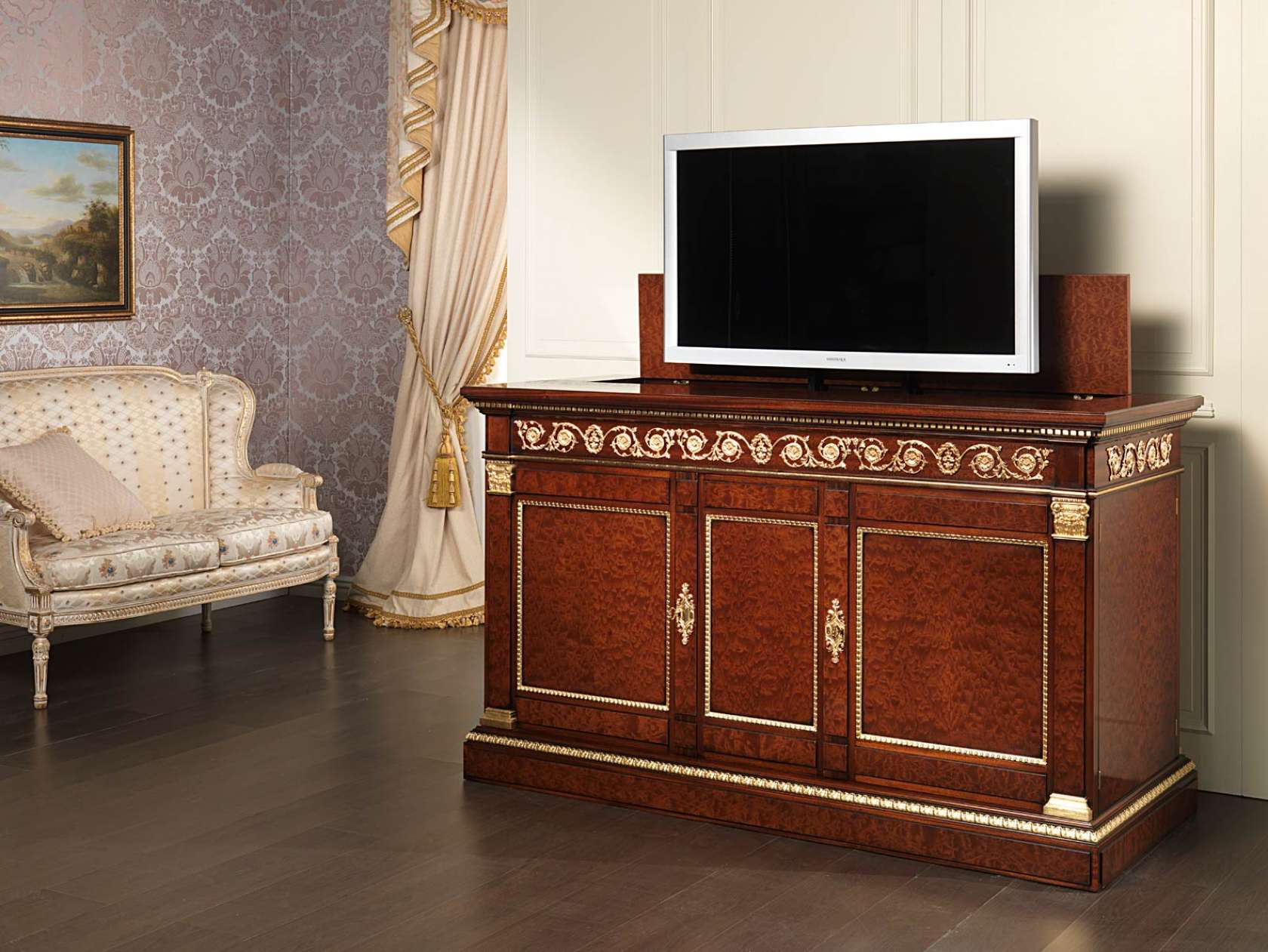 Meuble Tv En Acajou Meuble Tv En Acajou Style Empire Vimercati Classic Furniture
