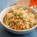 vegetable fried rice recipe, easy vegetable fried rice, vegetable fried rice indo chinese style, vegetable fried rice with step by step pictures