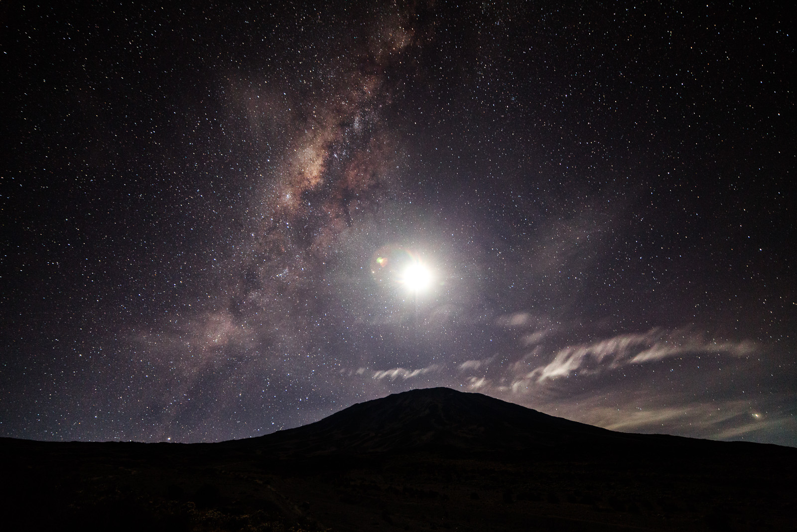 Falling Stars Wallpaper Mount Kilimanjaro Mawenzi To Kibo